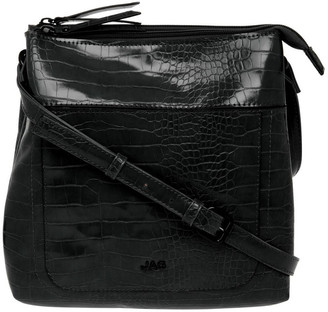 Jag Samantha Croc Zip Top Crossbody Bag