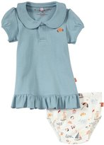 Magnificent Baby Seaside Polo Dress with Diaper Cover (Baby) - Blue-6 Months