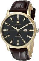 Tommy Hilfiger Men's 1710329 Casual Sport 3-Hand Croco Leather Strap and Gold-Plated Case Watch