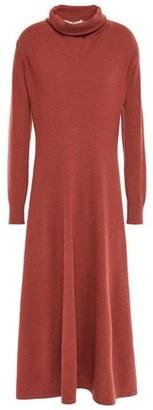 Agnona Melange Cashmere Turtleneck Midi Dress