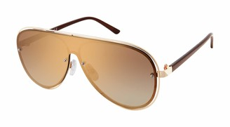 Laundry by Design Women's LD288 Aviator Shield Sunglasses with 100% UV Protection 135 mm