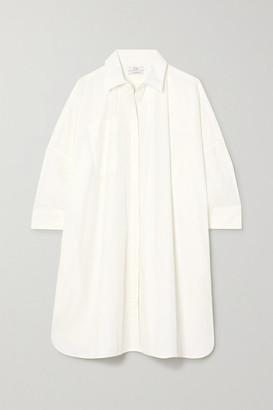 Co Oversized Cotton-blend Poplin Shirt - White
