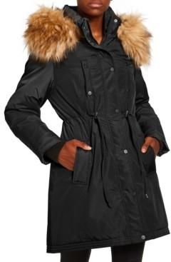 Madden-Girl Juniors' Faux-Fur Trim Hooded Anorak Parka