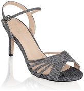 Paradox London Harsha Pewter Mid Heel Ankle Strap Sandals
