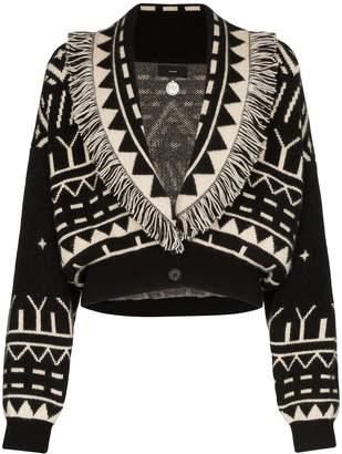Alanui shawl-lapel cropped cardigan