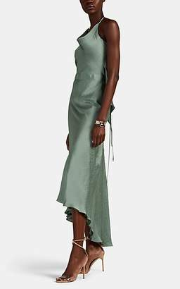 Juan Carlos Obando Women's Washed Satin Halter Dress - Mint