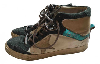 Golden Goose Mid Star Anthracite Suede Trainers