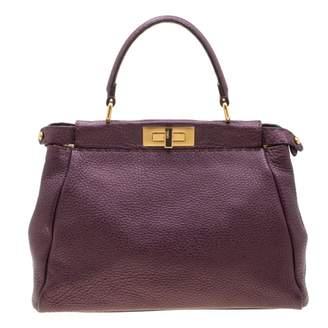 Fendi Peekaboo Purple Leather Handbags
