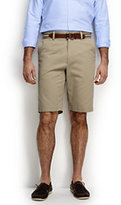 "Classic Men's Traditional Fit 11"" Plain Front Comfort Waist Casual Chino Shorts-Sisal"