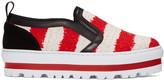 MSGM Tricolor Platform Sneakers