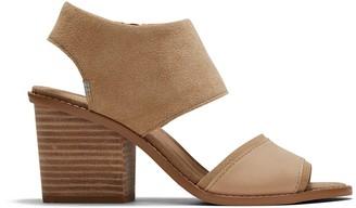 Toms Honey Oiled Nubuck and Suede Women's Majorca Block Sandals