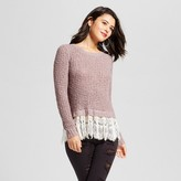 Xhilaration Women's Lace-Trim Sweater Juniors')