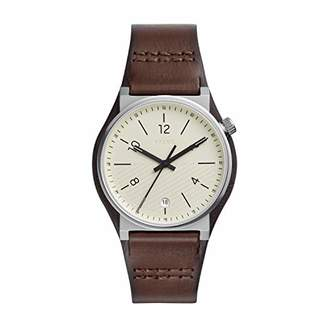 Fossil Men's Barstow Stainless Steel Quartz Watch with Leather Strap