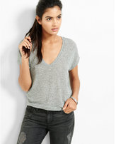 Express one eleven banded botton dolman sleeve tee