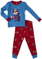 Petit Lem Fox and Deer 2 Piece PJ Set (Baby) - Blue-24 Months