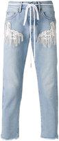 Off-White rope belt jeans - men - Cotton/Polyester/Viscose - 32