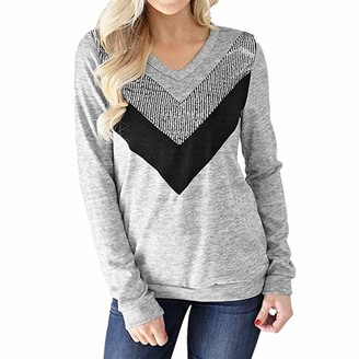 ZGRNPA Womens Casual Long Sleeve Sweatshirt Side Split Round Neck Tunic Pullover Tops Jumper Chunky Crewneck Long Sleeve Cable Knit Sweater Fall Winter Casual Pullover Tops