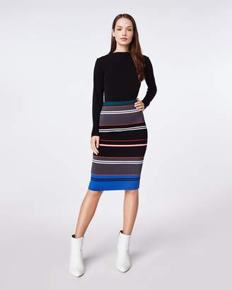 Nicole Miller Knit Stripe Pencil Skirt