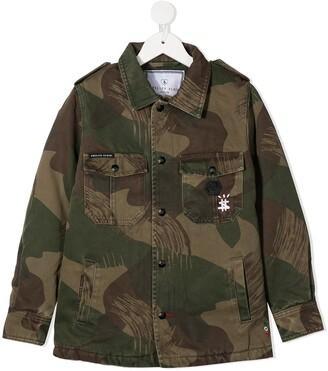 Philipp Plein Teddy Bear military jacket