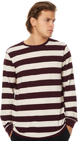 RVCA High Grade Pique Stripe Ls Mens Tee Red