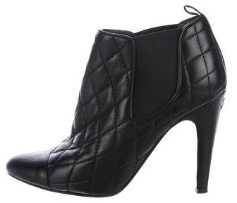 Chanel Quilted CC Booties