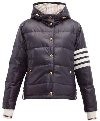 Thom Browne 4 Bar Quilted Down Bomber Jacket - Womens - Navy
