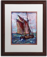 Trademark Fine Art Fresh Gale by Lowell S.V. Devin Wood Frame, 16-Inch by 20-Inch