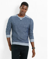 Express plaited crew neck sweater