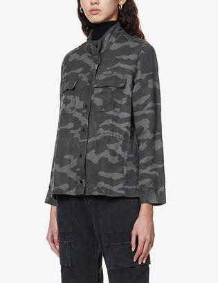 Rails Trey camouflage-print linen-blend jacket