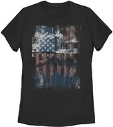 Fifth Sun Unbranded Juniors' American Flag Scenery Stencil Graphic Tee