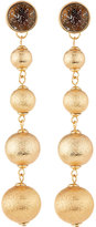 Lydell NYC Matte Golden Ball Statement Drop Earrings