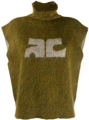 Courreges sleeveless knit jumper