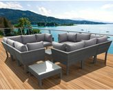 Atlantic Majorca Grey/ Dark Grey 12-piece Sectional Patio Furniture Set