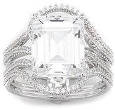 Nadri Emerald-Cut Cubic Zirconia Stone Ring