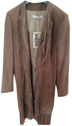 Stella Forest Brown Suede Coat for Women
