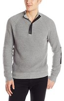 Kenneth Cole New York Kenneth Cole Men's Half Zip Sweater with Coating