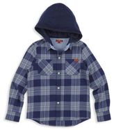 7 For All Mankind Boy's Cotton Hooded Shirt