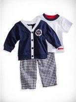 GUESS Newborn Boy Cardigan, Tee and Pants Set (0-9M)