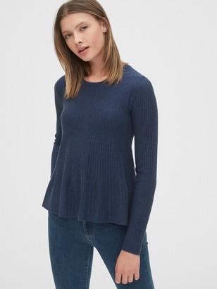 Gap Ribbed Peplum Sweater