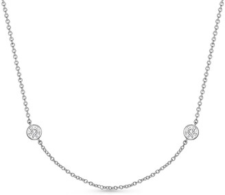 Memoire 18K 2.00 Ct. Tw. Diamond By The Yard Necklace
