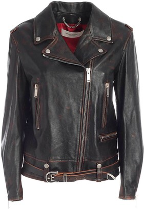 Golden Goose Leather Jacket Andrea