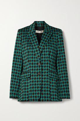 Diane von Furstenberg Petra Jacquard Blazer - Green