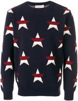 MAISON KITSUNÉ star intarsia jumper