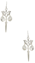 Chan Luu Double Faceted Pear Crystal Drop Earrings
