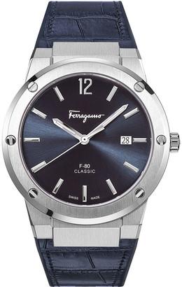 Salvatore Ferragamo Men's F-80 Slim Leather Watch