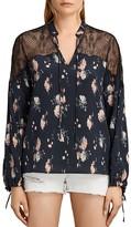 AllSaints Layla Meadow Silk Top