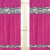 JoJo Designs Sweet Funky Zebra Window Panel Pair in Pink