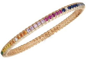 Zydo Stretch 18K Rose Gold, Sapphire, Tsavorite & Diamond Bracelet
