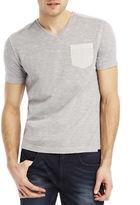 Kenneth Cole New York Acid Washed Pocket T-Shirt
