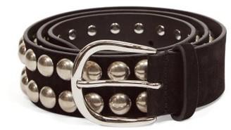 Isabel Marant Zaf Studded Leather Belt - Black Multi